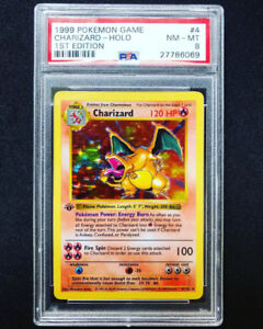 PSA 8 1ST EDITION SHADOWLESS CHARIZARD