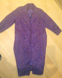 Vintage mohair coat, made in Scotland, women's L
