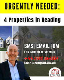 Property in Reading_Urgently Required