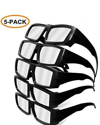 5Pcs Solar Eclipse Glasses Iso Ce Certified Plastic Sun Glasses Safe Watching