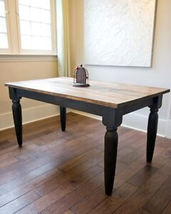 Rustic Farm Kitchen Tables - Custom size & colors available!