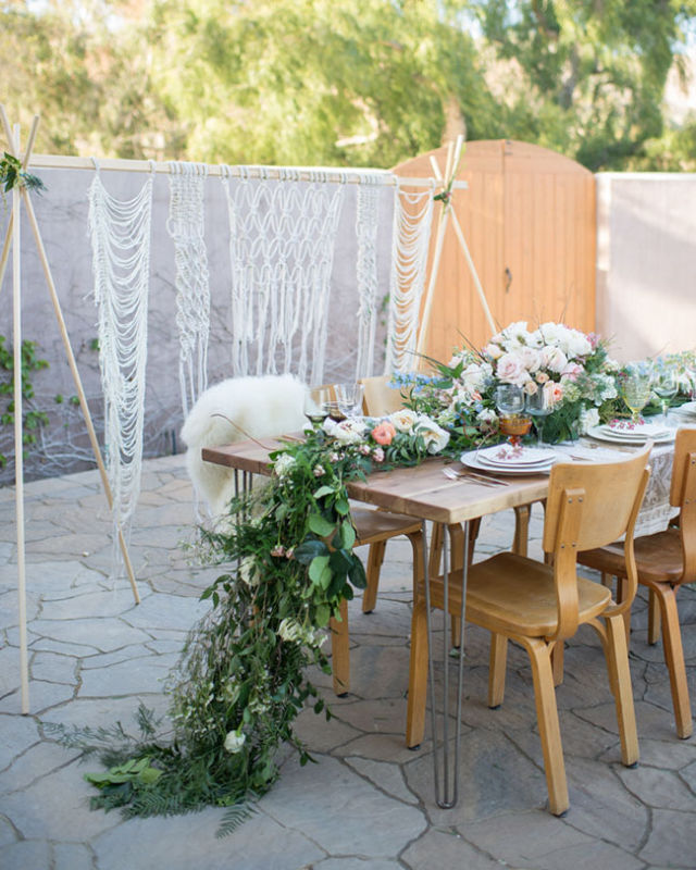 macrame backdrop by Laura Stewart Design // photo by Jessica M Wood