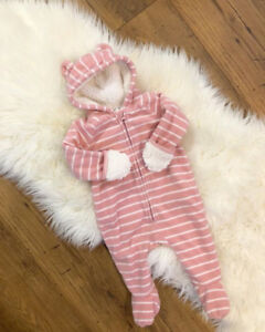 Beautiful Cozy Baby Girl Snowsuit Fleece Bunting