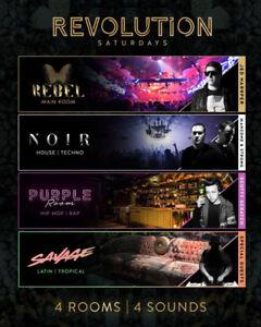 Revolution Saturdays @ Rebel Nightclub - Linebypass, Tables ++