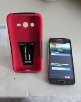 Used Samsung Galaxy Core LTE 16GB  Black with red case