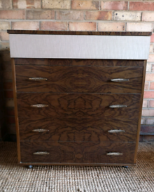 Retro 1950s 5 Drawer Chest of Drawers