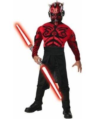Jungen Kind Star Wars Deluxe Muskel Brust Evil Darth Maul Kostüm Outfit