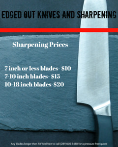 Professional Knife Sharpening