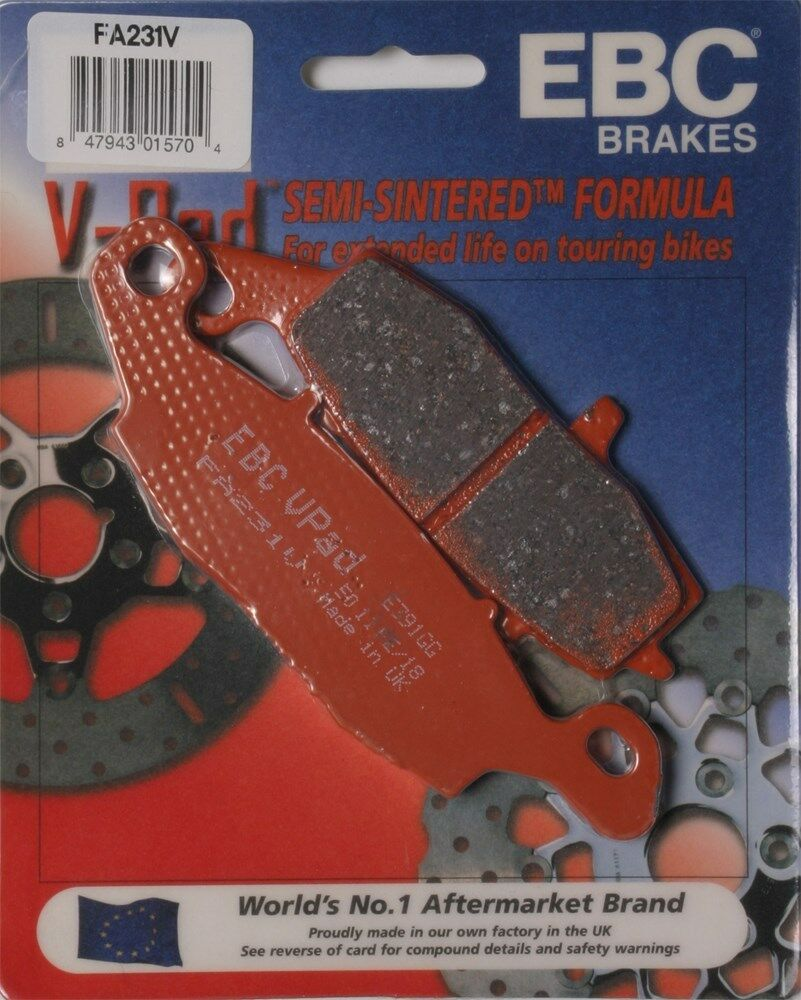 Fits Rear Only EBC Brakes FA196V Semi Sintered Disc Brake Pad