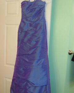 Purple Formal Dress with Ruching
