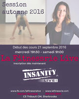 Session d'automne Insanity Live Sherbrooke