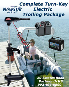 Boat show SAVING $150 - Transom Electric 45LB Trolling Package