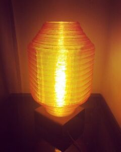 1970 Vintage Acrylic Table Lamp-Lampe en Acrylique Retro