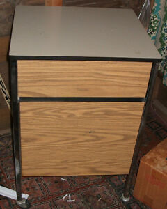All Metal Storage/ Work Table-1 Drawer and Cupboard, on wheels