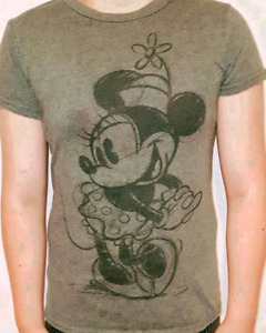DISNEY  Grey T-shirt Old fashion Minnie Mouse SIZE M