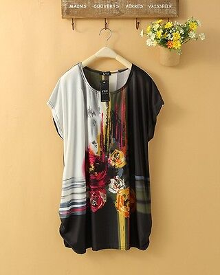 New Hot  Bohemian Confortable Chiffon in T-Shirts Women Lady Mini dress DB0037 on Rummage