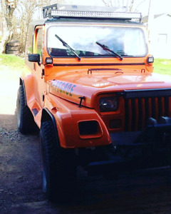 Jeep wrangler 1988 /Trade or 1400 neg