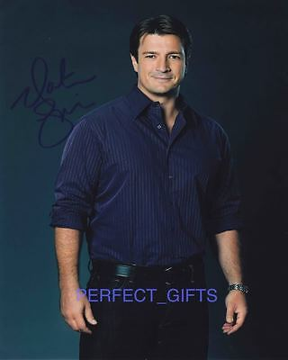 NATHAN FILLION CASTLE SIGNED 10X8 PP PHOTO firefly