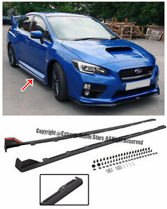 For 15-Up Subaru Impreza WRX STi JDM Style Rocker Panels Side Sk