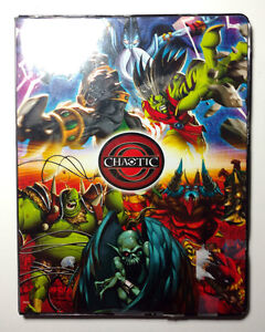Chaotic Cards - Card Book w/10 sheets + 114 Cards - 13 Rares