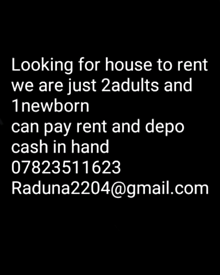 want it house to rent