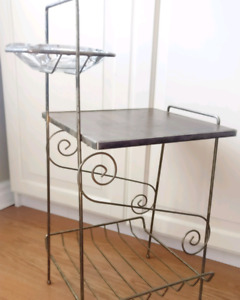 Vintage table with magazine rack