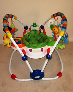 Musical Jumperoo- Baby Einstein , Folds, Heights, Washable, etc