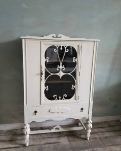 White Antique Cabinet with Tons of Character!