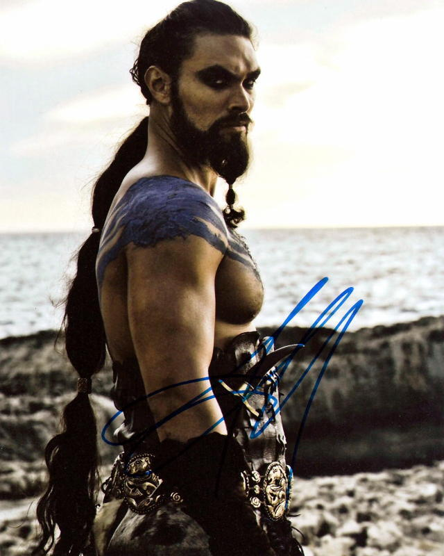 JASON MOMOA.. Game of Thrones' Khal Drogo - SIGNED
