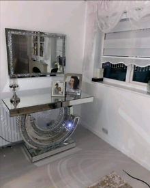 DIAMOND CRUSH/SPARKLE QUALITY MADE CC CONSOLE TABLE 😍FAST UK DELIVERY