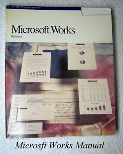 Microsoft Works Reference, 1989 - original MS book 1989