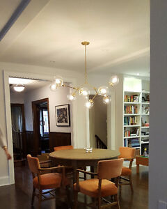 The Lighting Guy- Satin brass chandelier - DO it Yourself