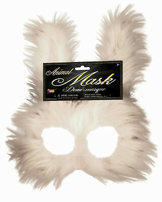 Furry Bunny Creepy Rabbit Half Mask - Rabbit Half Mask