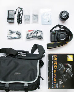 Nikon D5200 With Zoom Lens + Accessories