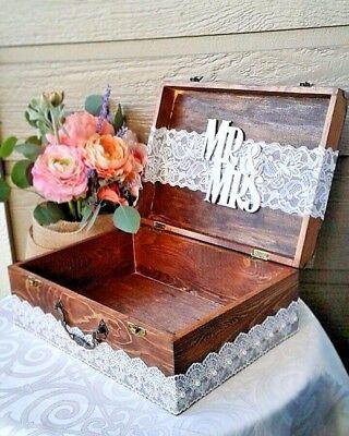 Wedding Card Box Envelope Holder Advice Box Money Box wedding decor wishing well (Wedding Envelope Box)