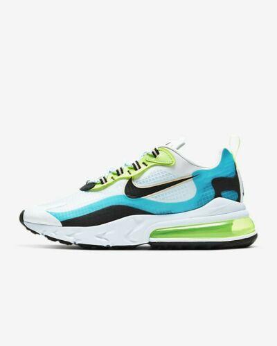 Nike Air Max 270 React Oracle Aqua Ghost Green UK Size 7.5 Ct1265 300