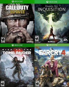 Selling/Trading Xbox One COD WW2, Tomb Raider, Farcry, more