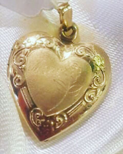 10k Gold Heart Locket Mom Mother's Day $99 & LOTs of STUFF Sale
