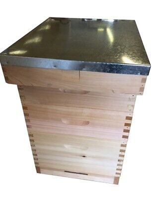 Langstroth Bee Hive Beehive, all frames/foundation, Complete, Cedar, Flat Packed