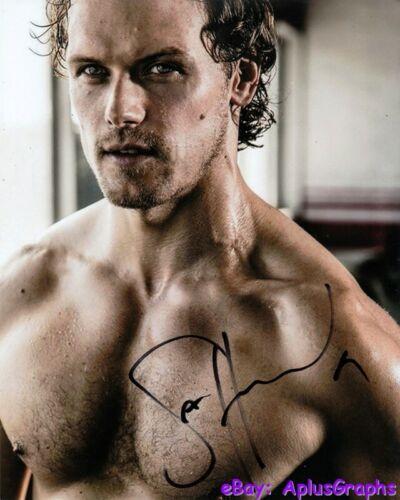 SAM HEUGHAN.. Hot Barechested Hunk (Outlander) SIGNED