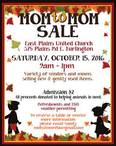 MOM TO MOM SALE - MOM TABLES AVAILABLE