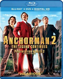 Blu-ray - Anchorman 2: The Legend Continues - New and Unopened