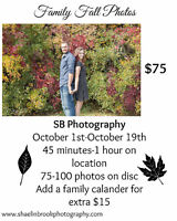 SB PHOTOGRAPHY OFFERING FALL SESSIONS FOR $75 LIMITED TIME