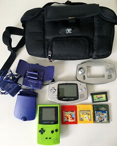 GAMEBOY COLOR, & GAMEBOY ADVANCE ULTIMATE PACKAGE *LIKE NEW*