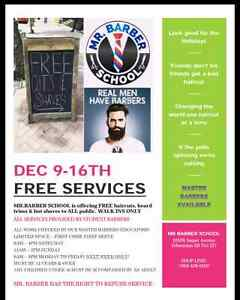 Free Cuts and Beard trims