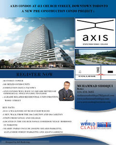 Axis Condos ,walking distance to the College Subway Station