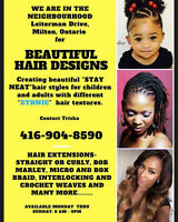 """Hairdresser for different """"Ethnic"""" hair textures."""