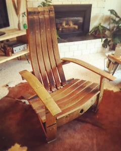 Oak Wine Barrel Lounge Chair
