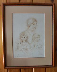 """Mother and Two Children"" by Edna Hibel Kitchener / Waterloo Kitchener Area image 2"