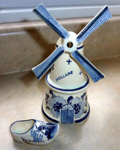Vintage Windmill and Dutch Shoe